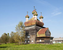 Ancient wooden church in North Russia Royalty Free Stock Photos