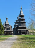 Ancient wooden church Stock Photos