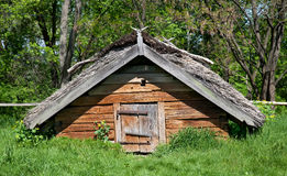 Ancient wooden cottage Royalty Free Stock Photos
