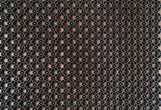 Ancient wooden fabric pattern stamp Royalty Free Stock Images