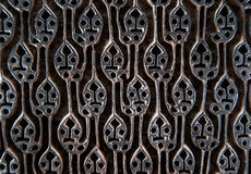 Ancient wooden fabric pattern stamp Stock Photo
