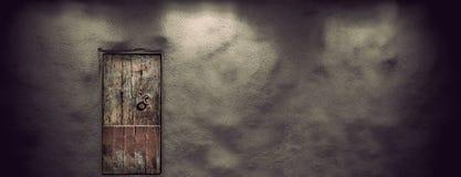Ancient wooden door stock photos