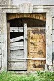 Ancient wooden door, architectural element Stock Photos