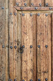 Ancient Wooden Door. At Castile; Spain Royalty Free Stock Images