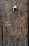 Ancient Wooden Door. At Cuenca, Spain Stock Photos