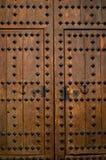 A ancient wooden door detail. Stock Photos