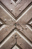 Ancient wooden door detail Royalty Free Stock Photography