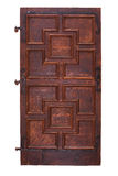 Ancient wooden door with hinges Royalty Free Stock Photography