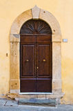 Ancient wooden door of historic building Royalty Free Stock Image