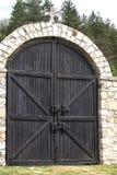 Ancient wooden door Stock Image