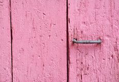 Ancient wooden door red Royalty Free Stock Images
