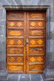 Ancient wooden door Santa Cruz de La Palma Royalty Free Stock Images