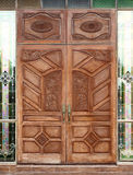 Ancient wooden door and texture Royalty Free Stock Photos