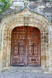 Very old wooden doors in a Spanish castle, Spain Royalty Free Stock Photos