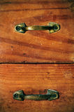 Ancient wooden drawers Stock Photo