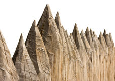 Ancient wooden fence Stock Photography