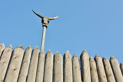 Ancient wooden fence Stock Image