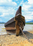 Ancient wooden fishing boat Stock Image