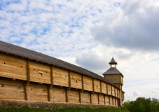 Ancient wooden fortress Royalty Free Stock Photo