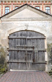 Ancient wooden gate Stock Photo