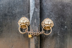 Ancient wooden gate Royalty Free Stock Image