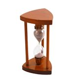 Ancient wooden hourglass over white Stock Photos