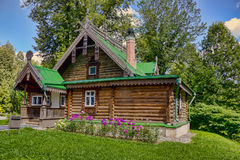 The ancient wooden house in the noble estate in Russia Stock Photography