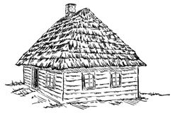 Ancient wooden house Royalty Free Stock Images
