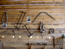Ancient wooden household items Stock Photography