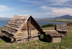 Ancient wooden houses Royalty Free Stock Images