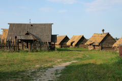 Ancient wooden houses in country side. Stock Photos