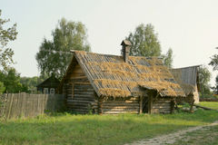 Ancient wooden houses in country side. Stock Images