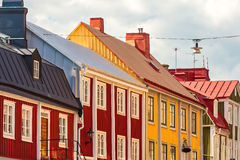 Ancient wooden houses in Karlskrona, Sweden Royalty Free Stock Photo