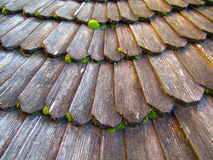 Ancient wooden laying of the roof, Kamenets Podolskiy, Ukraine Stock Photos