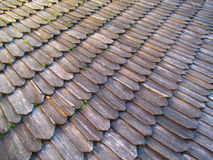Ancient wooden laying of the roof, Kamenets Podolskiy, Ukraine Royalty Free Stock Photography