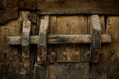 Ancient wooden lock Royalty Free Stock Photos