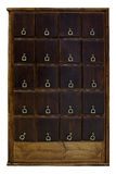 Ancient wooden locker Stock Photography