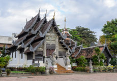 Ancient wooden monastery in Chiang Mai, Thailand Stock Image