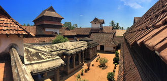 Ancient wooden palace Padmanabhapuram of the maharaja in Trivandrum Royalty Free Stock Image