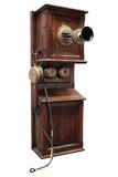 Ancient wooden phone Royalty Free Stock Photos