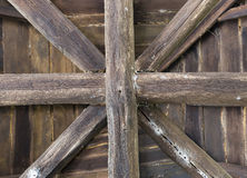 Ancient wooden roof construcion Royalty Free Stock Photography