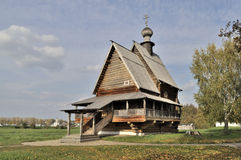 Ancient wooden russian church in Suzdal Stock Photography