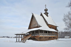 Ancient wooden russian church in Suzdal Stock Image