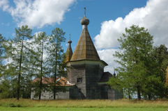 Ancient wooden russian country church Royalty Free Stock Image