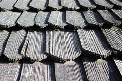 Ancient wooden shingles stock photography