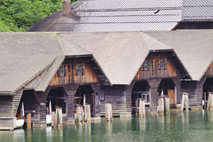 Ancient wooden ship port. Stock Photos