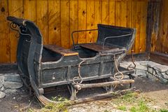 Ancient Wooden Sledges Royalty Free Stock Photo