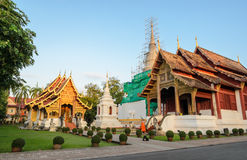 Ancient wooden temple of Wat Phra Singh in Chiang Mai, Thailand Royalty Free Stock Photos