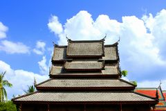 Ancient wooden Thailand Stock Photos