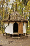 Ancient wooden ukrainian house Royalty Free Stock Photo